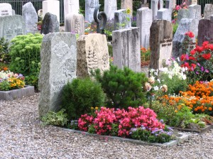 Typical Swiss church cemetary
